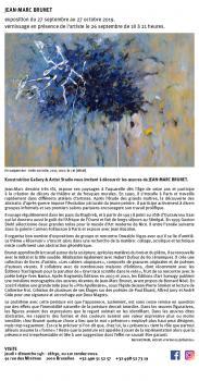 Exposition Jean-Marc BRUNET